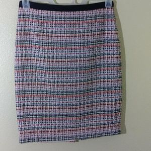 Talbots Plaid Pencil Skirt Size 4P